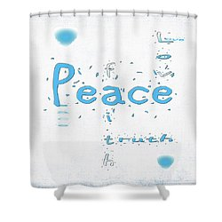 Blue Peace Shower Curtain
