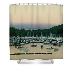 Sunrise Over Mallets Bay Variations - Three Shower Curtain