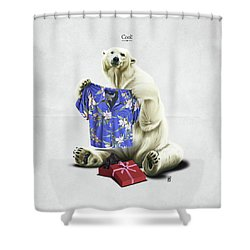 Cool Shower Curtain by Rob Snow