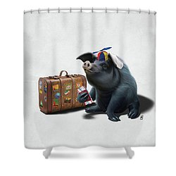 Might Wordless Shower Curtain by Rob Snow