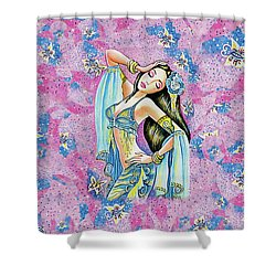 Shower Curtain featuring the painting Amrita by Eva Campbell