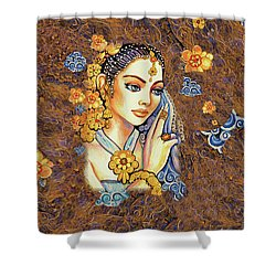 Shower Curtain featuring the painting Amari by Eva Campbell