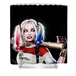 Harley Quinn Drawing  Shower Curtain by Jasmina Susak