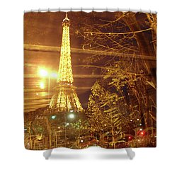 Eiffel Tower By Bus Tour Shower Curtain