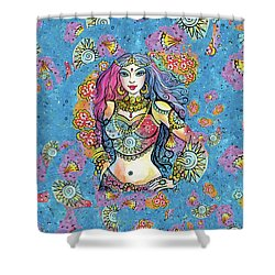 Shower Curtain featuring the painting Kali by Eva Campbell