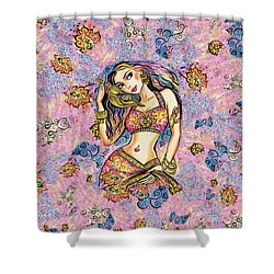 Shower Curtain featuring the painting Karishma by Eva Campbell