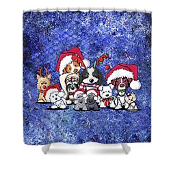Kiniart Christmas Party Shower Curtain