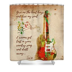 Shower Curtain featuring the digital art Drift Away Country by Nikki Marie Smith
