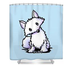 Arctic Fox Shower Curtain by Kim Niles