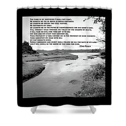 Shower Curtain featuring the photograph Beside Still Waters by Methune Hively