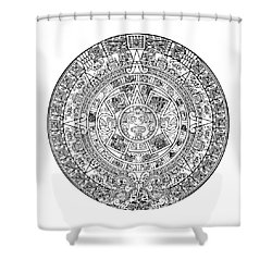 Aztec Sun Shower Curtain by Taylan Apukovska