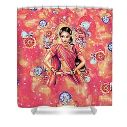 Shower Curtain featuring the painting Devika Dance by Eva Campbell