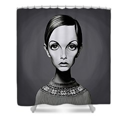 Celebrity Sunday - Twiggy Shower Curtain