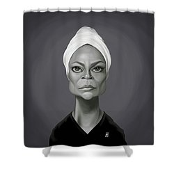 Celebrity Sunday - Eartha Kitt Shower Curtain