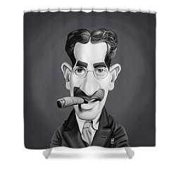 Celebrity Sunday - Groucho Marx Shower Curtain by Rob Snow