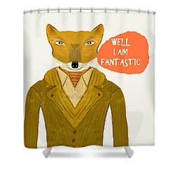 Shower Curtain featuring the painting Well I Am Fantastic by Bri B