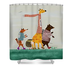 The Fun Run Shower Curtain