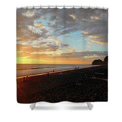 Playa Hermosa Puntarenas Costa Rica - Sunset A One Shower Curtain by Felipe Adan Lerma