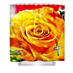 God Love Peace Shower Curtain