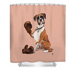 The Boxer Colour Shower Curtain