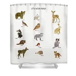 Shower Curtain featuring the painting Little Nature Friends by Bri B