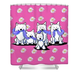 Sams And Westie Shower Curtain by Kim Niles