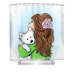 Can I Keep Him? Shower Curtain by Kim Niles