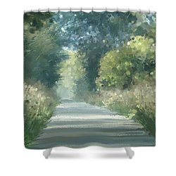 The Road Back Home Shower Curtain