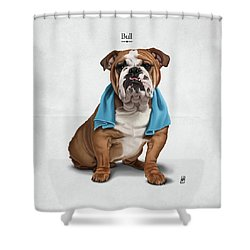 Bull Shower Curtain by Rob Snow