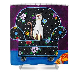 Cats Just Wanna Have Fun Shower Curtain