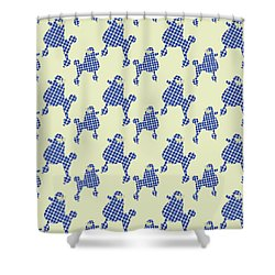 Shower Curtain featuring the mixed media French Poodle Plaid by Christina Rollo