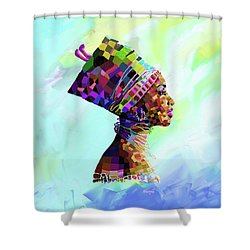 Queen Nefertiti Shower Curtain