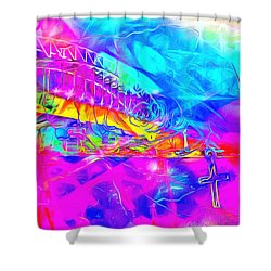 Lord I Need You Time Shower Curtain