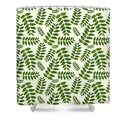 Shower Curtain featuring the mixed media Botanical Pattern by Christina Rollo