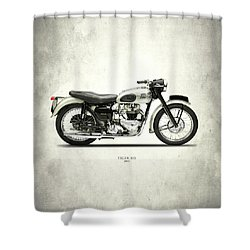 Tiger T110 1957 Shower Curtain by Mark Rogan