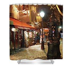 Place St Michel To Rue Saint-andre Des Arts Shower Curtain by Felipe Adan Lerma