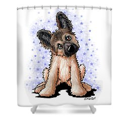 Curious Shepherd Puppy Shower Curtain