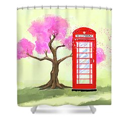 Shower Curtain featuring the mixed media The Great British Spring by Mark Tisdale