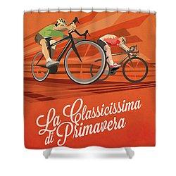 Milan San Remo Shower Curtain by Sassan Filsoof