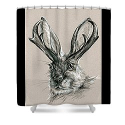 The Mythical Jackalope Shower Curtain