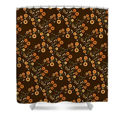 Shower Curtain featuring the digital art Autumn Flower Explosion by Methune Hively