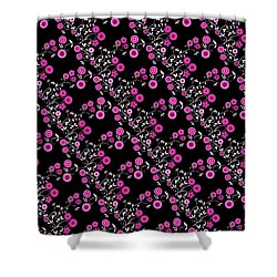 Shower Curtain featuring the digital art Pink Floral Explosion by Methune Hively