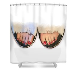Toes 01 Shower Curtain