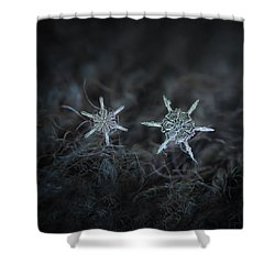 Snowflake Photo - When Winters Meets Shower Curtain by Alexey Kljatov