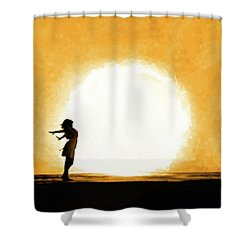 Child Of The Universe Shower Curtain by Mark Tisdale