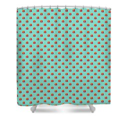Burger Isometric - Plain Mint Shower Curtain