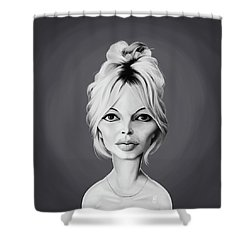 Celebrity Sunday - Brigitte Bardot Shower Curtain