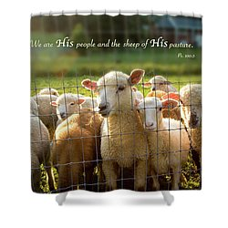 Psalm 100 Shower Curtain