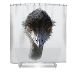 Suspicious Emu Stare Shower Curtain