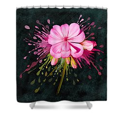Shower Curtain featuring the painting Color Eruption  by Ivana Westin